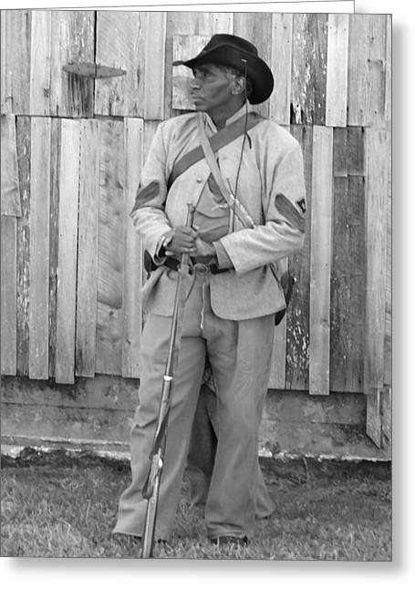150th Commemoration Digital Art Greeting Cards - Black Confederate Soldier - Richmond Kentucky Greeting Card by Thia Stover