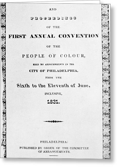 Black Convention, 1831 Greeting Card by Granger
