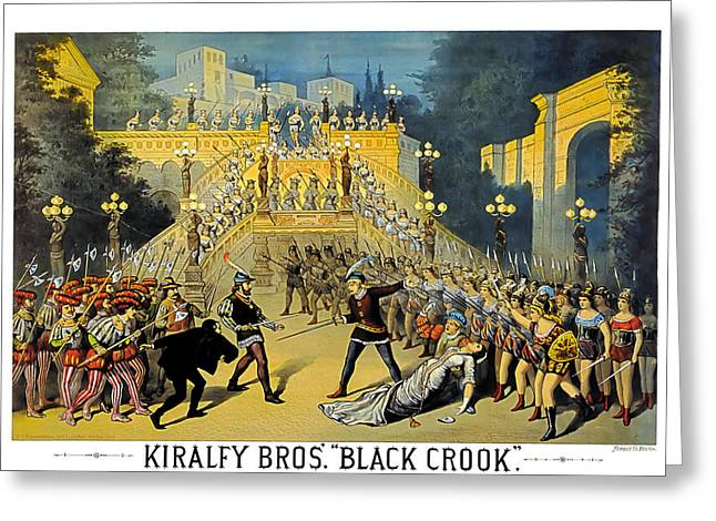 Theater Greeting Cards - Black Crook Greeting Card by Terry Reynoldson