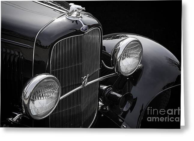 Deuce Coupe Greeting Cards - Black Deuce Greeting Card by Dennis Hedberg