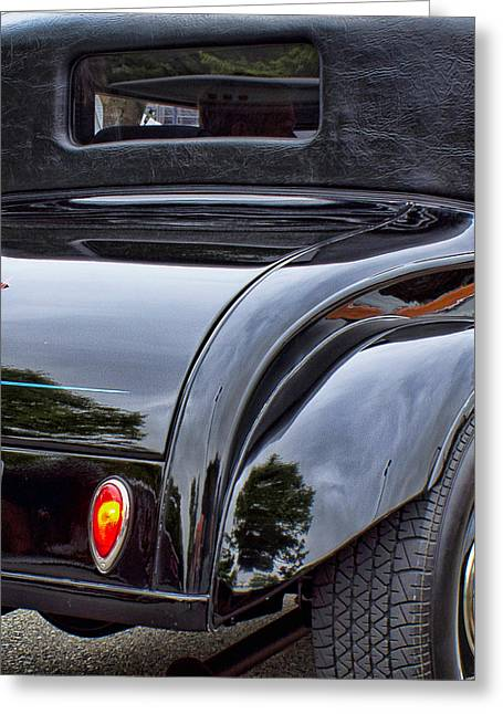 Ron Roberts Photography Greeting Cards Greeting Cards - Black Dodge Greeting Card by Ron Roberts