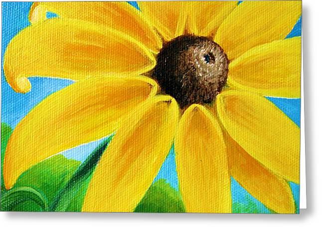 Black Eyed Susan Greeting Card by Sharon Marcella Marston