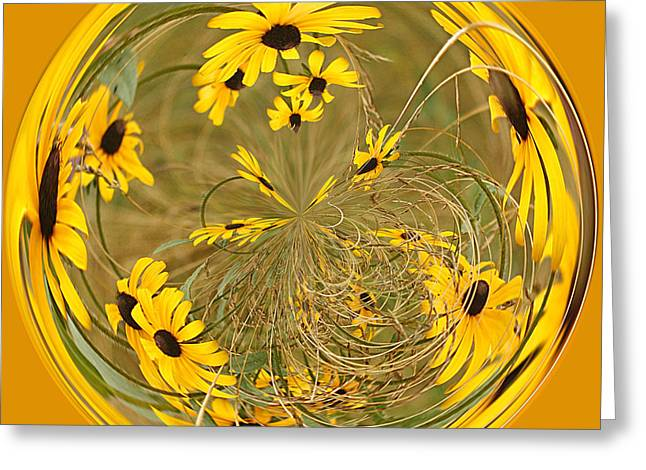 Cindi Ressler Greeting Cards - Black eyed Susans Greeting Card by Cindi Ressler