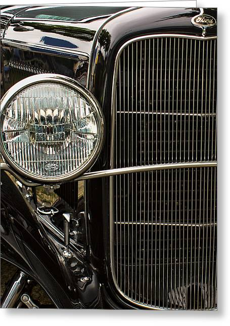 Valuable Greeting Cards - Black Ford Rod Greeting Card by Ron Roberts