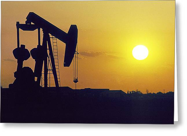 Oil Pumper Photographs Greeting Cards - Black Gold Greeting Card by Buddy Mays