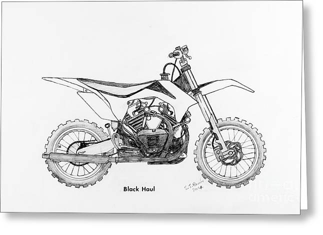 Suspension Drawings Greeting Cards - Black Haul Greeting Card by Stephen Brooks