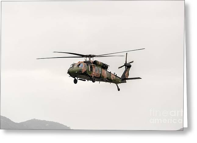 Sikorsky Photographs Greeting Cards - Black Hawk  Greeting Card by Ray Warren