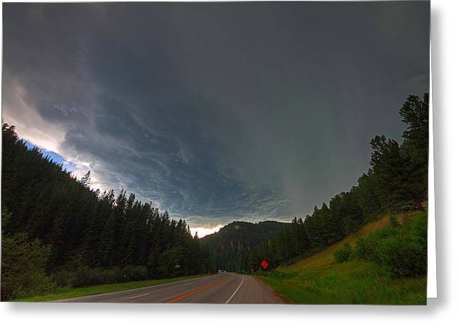 Supercell Greeting Cards - Black Hills Supercell Greeting Card by Chris  Allington
