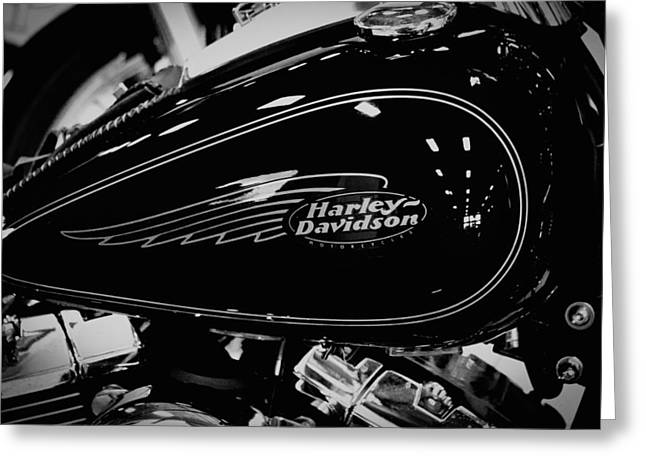 Classic Cycle Greeting Cards - Black Hog Greeting Card by David Patterson