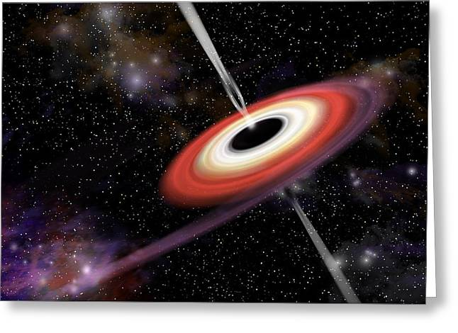 Interstellar Space Mixed Media Greeting Cards - Black Hole 2d Greeting Card by Marc Ward
