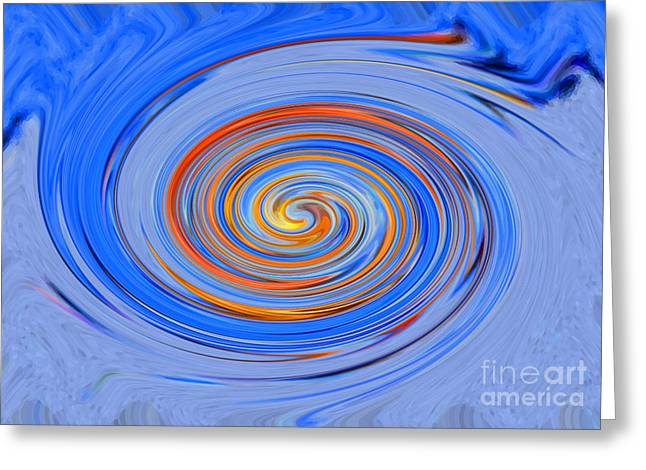 Drain Mixed Media Greeting Cards - Black hole blue hole Greeting Card by Christine  Dekkers