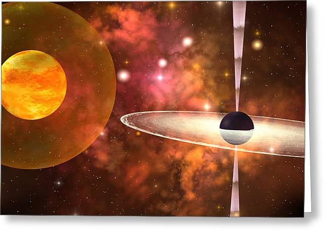 Interstellar Space Digital Art Greeting Cards - Black Hole Greeting Card by Corey Ford