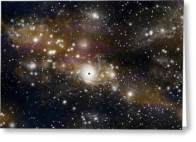 Jet Star Mixed Media Greeting Cards - Black Hole No.4 Greeting Card by Marc Ward