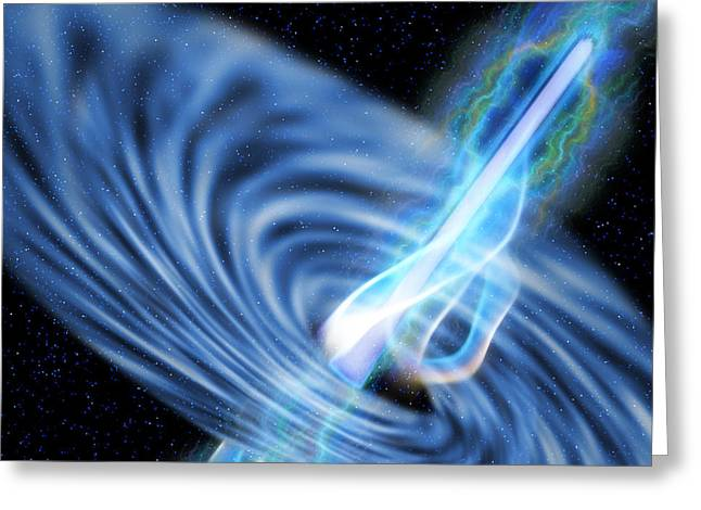 Interstellar Space Greeting Cards - Black Hole Radiation Greeting Card by Corey Ford