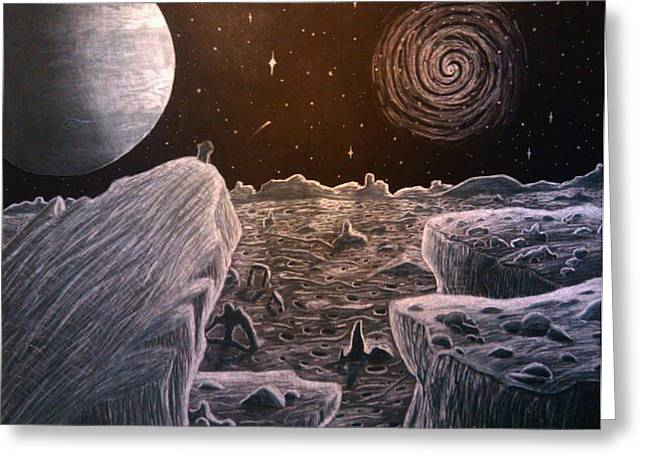 Surreal Landscape Drawings Greeting Cards - Black Hole Suicide Greeting Card by Travis Hunt
