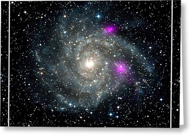 Spectroscopic Greeting Cards - Black Holes in Spiral Galaxy NASA Greeting Card by Rose Santuci-Sofranko