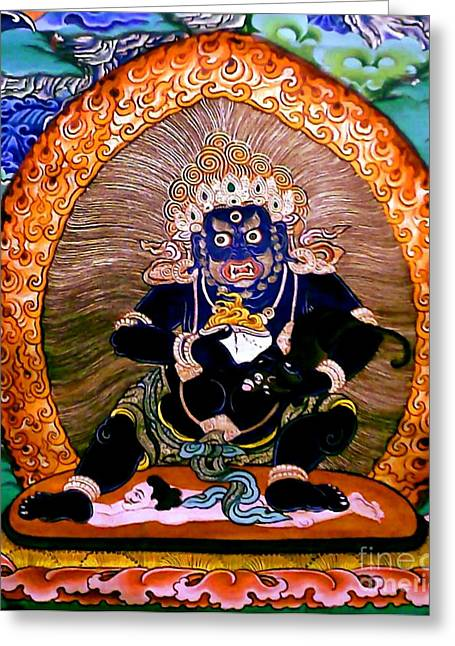 Financial Difficulties Greeting Cards - Black Jambhala  5 Greeting Card by Lanjee Chee