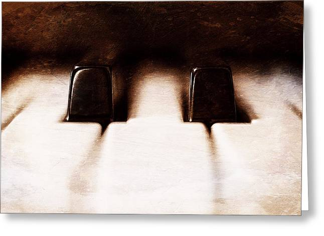 Living Life Photography Greeting Cards - Black Keys D Flat and E Flat  Greeting Card by Scott Norris