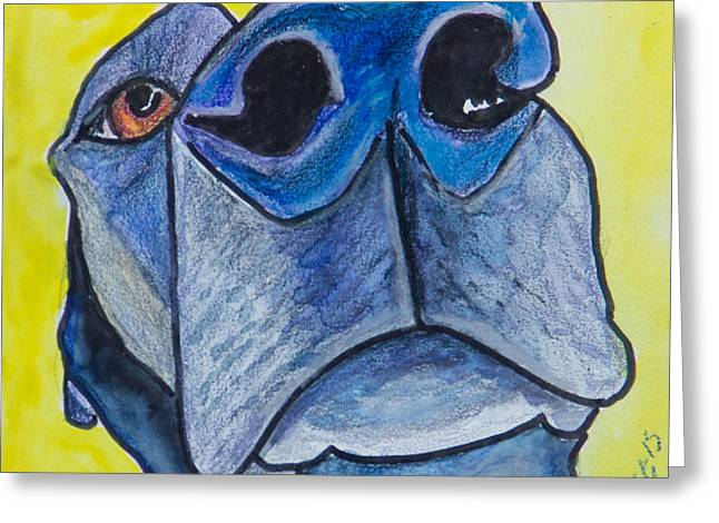 Mixed Labrador Retriever Mixed Media Greeting Cards - Black Lab Nose Greeting Card by Roger Wedegis
