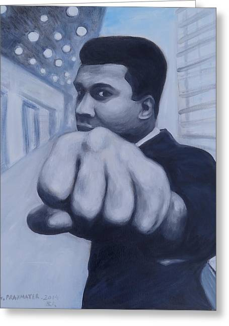 Boxe Greeting Cards - Muhammad Ali Greeting Card by Agnieszka Praxmayer