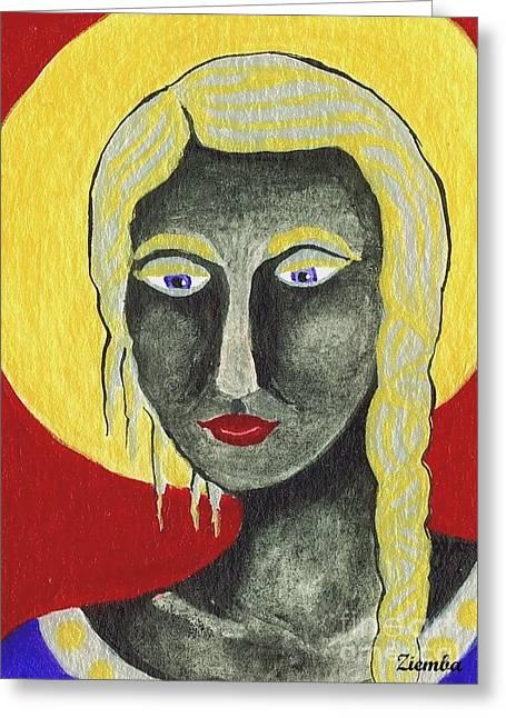 Lori Ziemba Greeting Cards - Black Madonna Greeting Card by Lori Ziemba