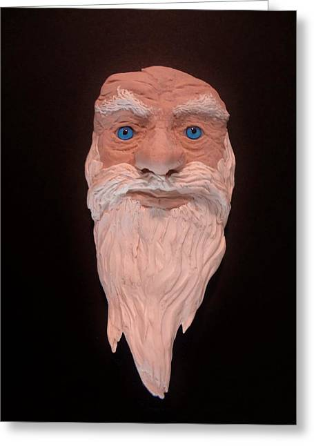 Character Sculptures Greeting Cards - Black Magic Greeting Card by David Wiles