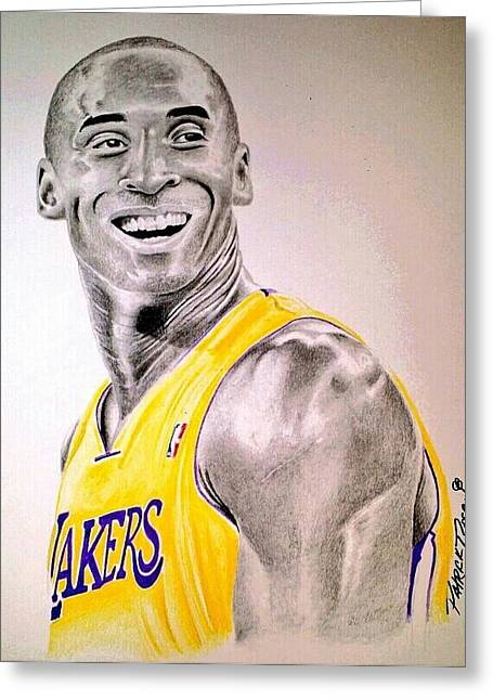 Lakers Drawings Greeting Cards - Black Mamba Greeting Card by Patrick Rose