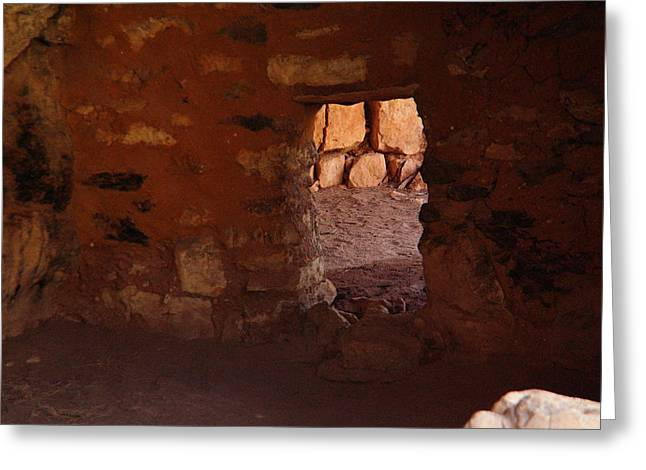 Ancient Ruins Greeting Cards - Black Marks From Ancient Stoves Greeting Card by Jeff  Swan