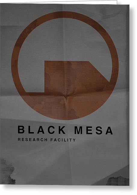 Video Game Life Greeting Cards - Black Mesa Greeting Card by Ryan Swannick