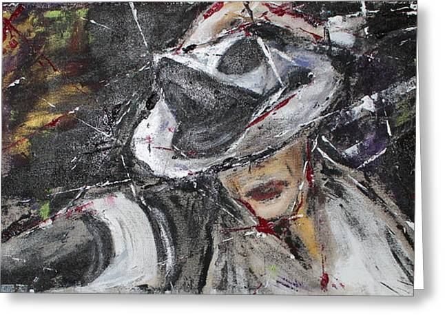 Michael Jackson Greeting Cards - Black or White Greeting Card by Lucy Matta