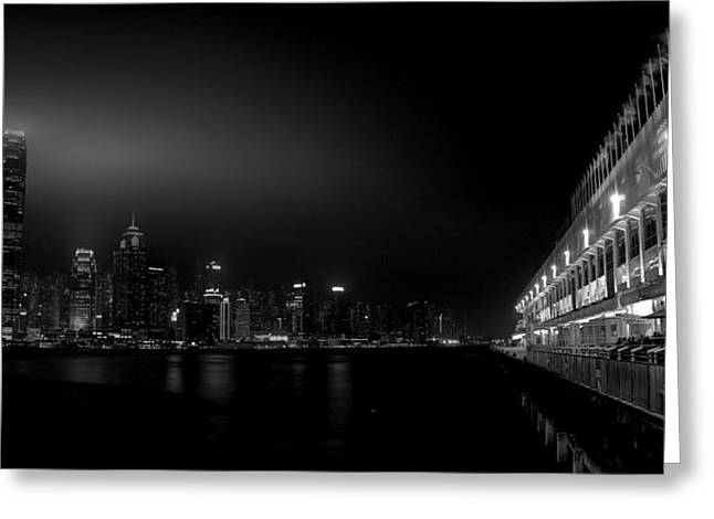 Kowloon Greeting Cards - Black orient Greeting Card by Peter Thoeny