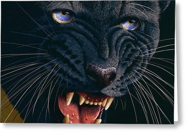 Black Panther 2 Greeting Card by Jurek Zamoyski
