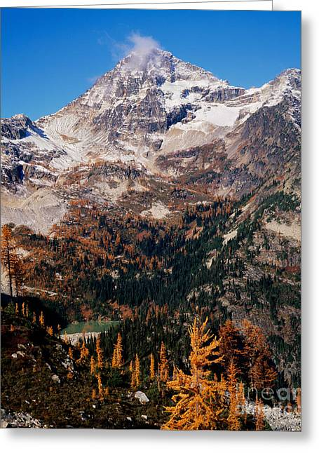 Okanogan National Forest Greeting Cards - Black Peak Above Maple Pass Greeting Card by Tracy Knauer