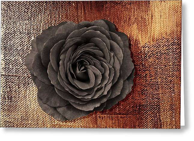 Dagmar Greeting Cards - Black rose  Greeting Card by Dagmar Wassenberg