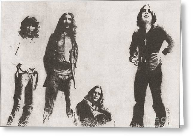 God Drawings Greeting Cards - Black Sabbath Greeting Card by Jeff Ridlen