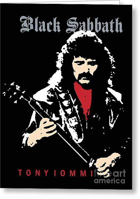 Rock N Roll Greeting Cards - Black Sabbath No.02 Greeting Card by Caio Caldas