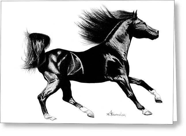 Shiny Drawings Greeting Cards - Black Speed Greeting Card by Kayleigh Semeniuk