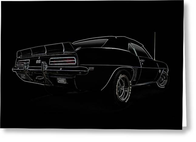Classic Digital Greeting Cards - Black SS Line Art Greeting Card by Douglas Pittman