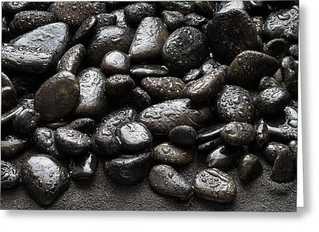 Black Greeting Cards - Black Stones Greeting Card by Steve Gadomski