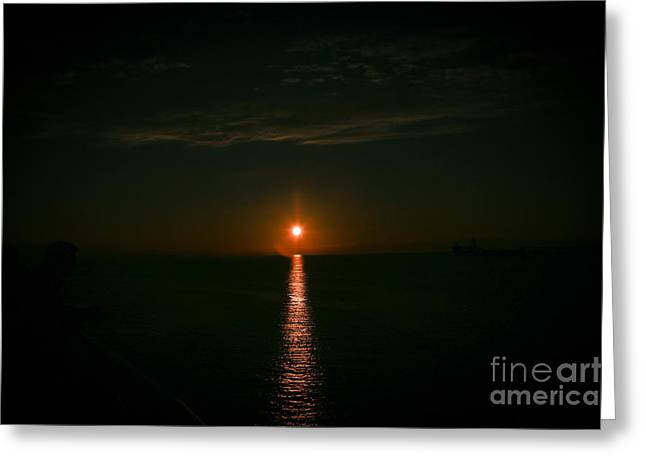Ocean Photography Greeting Cards - Black Sun Greeting Card by Alanna Dumonceaux