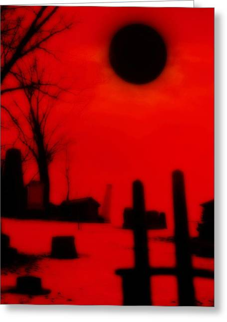 Black Sun Greeting Card by Gothicolors Donna