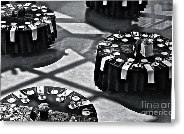 Special Occasion Greeting Cards - Black Tie Affair Greeting Card by Linda Bianic
