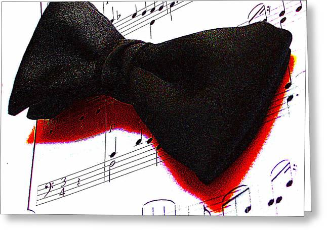 Metal Sheet Mixed Media Greeting Cards - Black Tie Affair Greeting Card by M and L Creations