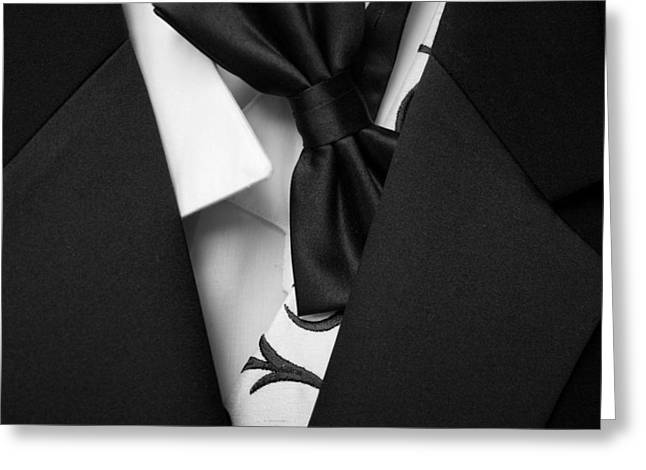 Shirt And Tie Greeting Cards - Black Tie Affair Greeting Card by Mountain Dreams