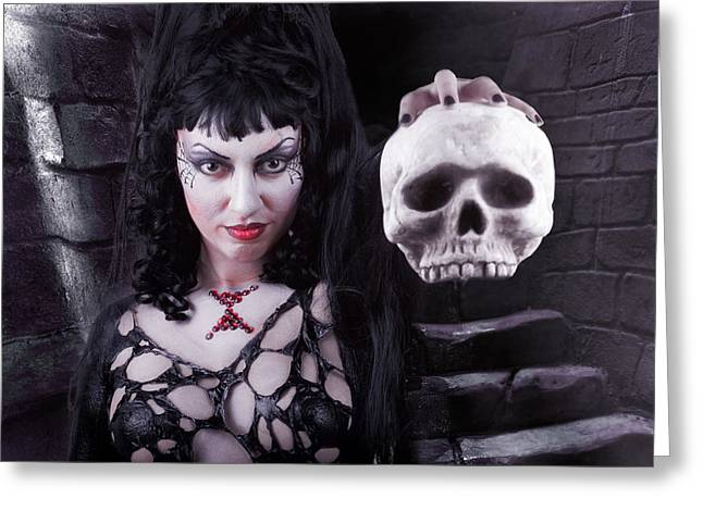Body Photographs Greeting Cards - Black Widow Greeting Card by David April