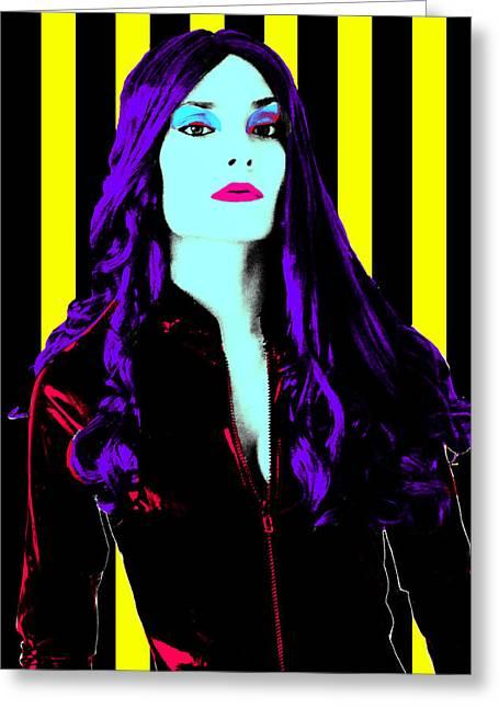 Digita Art Greeting Cards - Black Widow Greeting Card by Mauricio Vegas