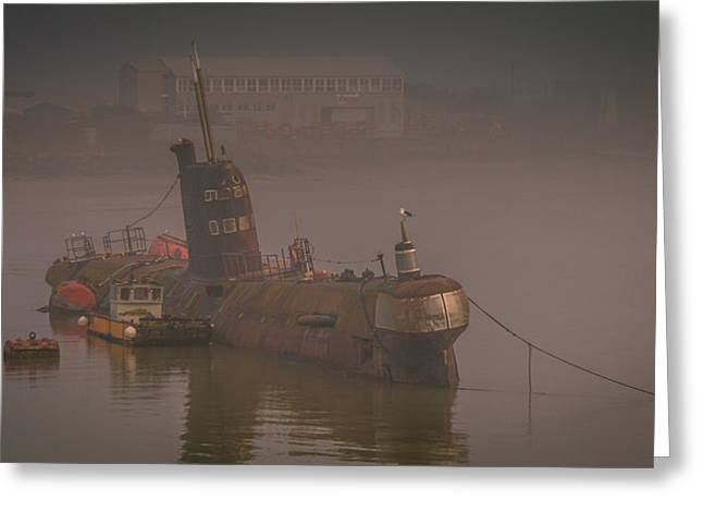 River Medway Greeting Cards - Black Widow Submarine Greeting Card by Dawn OConnor