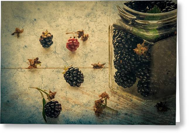 Owned Greeting Cards - Blackberry gumdrops Greeting Card by Constance Fein Harding