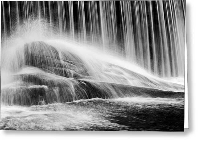 Black And White Waterfall Greeting Cards - Blackberry River Falls Greeting Card by Bill  Wakeley