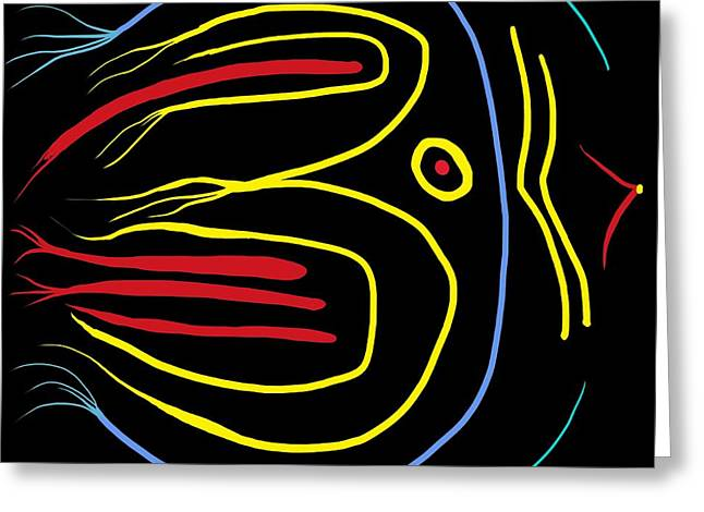 Abstract Expression Greeting Cards - Blackbird Greeting Card by Alec Drake